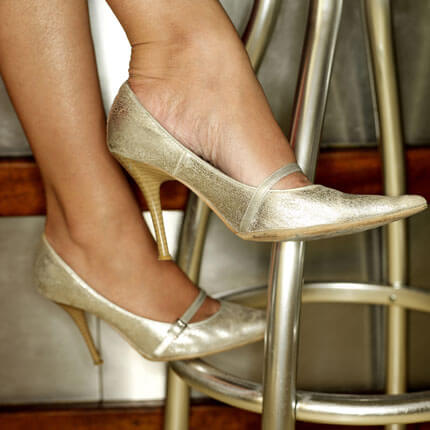 chaussures argent