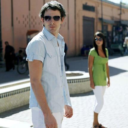 chemise bleue